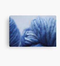 Cool blue yarn Canvas Print