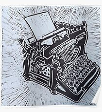 Typewriter, an old fashioned one Poster