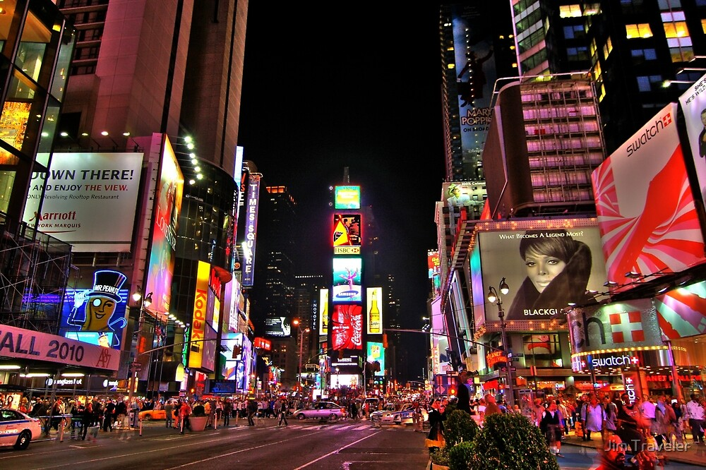 Times square by Night by Jim Traveler