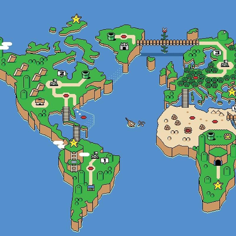 Super mario bros style earth map throw pillows by 8bitgenius super mario bros style earth map gumiabroncs Image collections