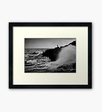 French Atlantic Coast - Storm Framed Print