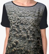 Sand Pellets  Women's Chiffon Top