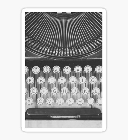 Vintage Typewriter Study Sticker
