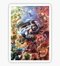 Smash 4 Bayonetta Reveal Illustration Sticker