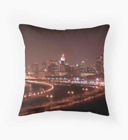 Saint Paul Skyline Throw Pillow