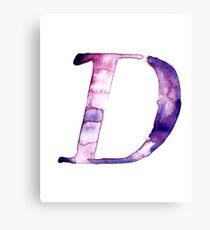 Alphabet D Canvas Print