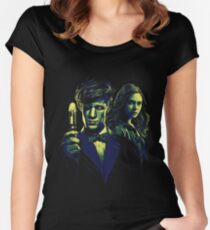Doctor and his Companion Women's Fitted Scoop T-Shirt