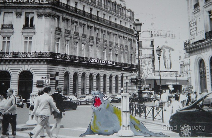 Elephant Seal in Paris by Chad  Schuety