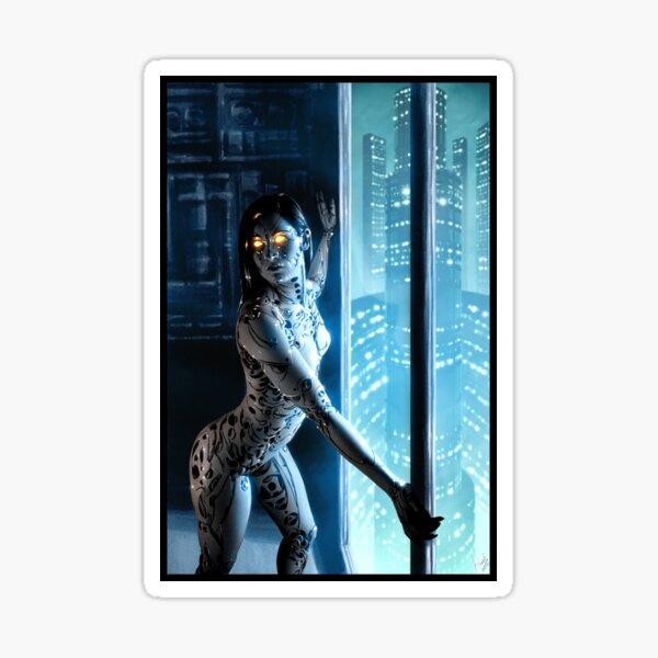 Cyberpunk Painting 046 Sticker