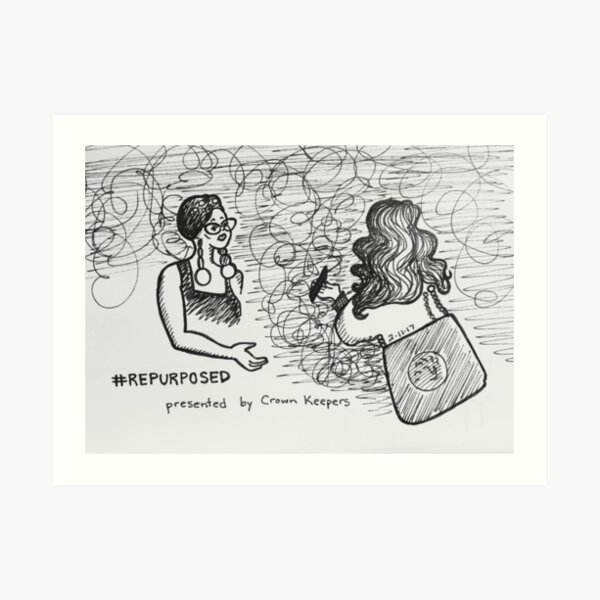 Reportage Sketch: #REPURPOSED Fashion Show at LACA Projects  Art Print