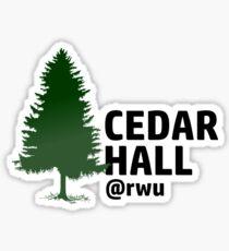 RWU Cedar Hall Sticker