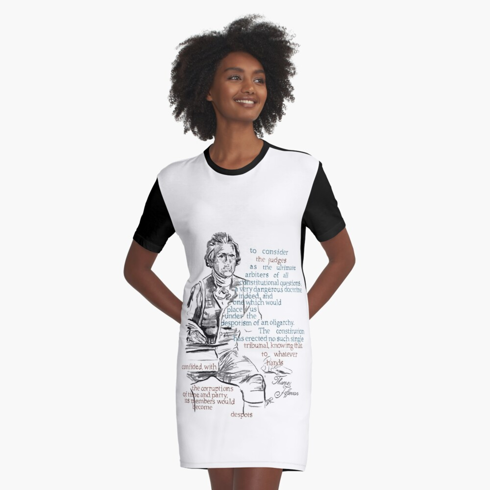 Thomas Jefferson Picture Quote - The Constitution Graphic T-Shirt Dress Front