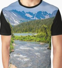 Long Lake and The Continental Divide Graphic T-Shirt