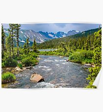 Long Lake and The Continental Divide Poster