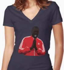 Stormzy vector Women's Fitted V-Neck T-Shirt