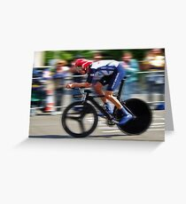 Bradley Wiggins - Sur Le Rivet Greeting Card