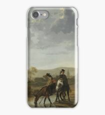 Aelbert Cuyp - River Landscape With Riders, 1657 iPhone Case/Skin