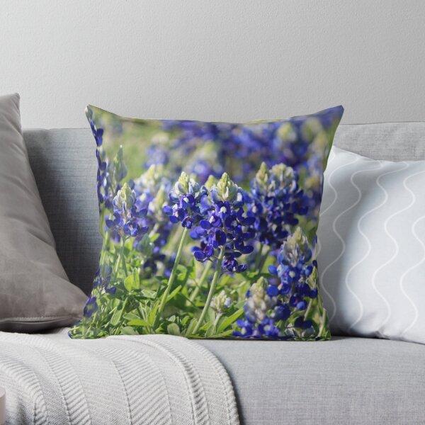 Bluebonnet blooms Throw Pillow