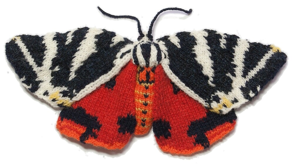 Jersey Tiger Moth - Knitted by maxsworld
