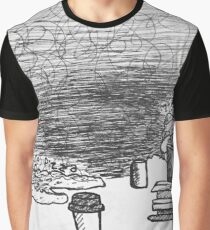 Reportage Sketch: Pure Pizza at 7th Street Public Market Graphic T-Shirt