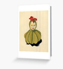 The Creepiest Yet Most Wonderful Pincushion Ever in Gouache Greeting Card