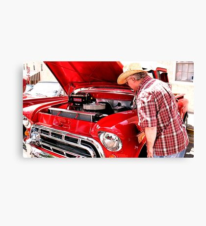"""Checkin' Out This Baby, a 1951 Chevy Truck""... prints and products Canvas Print"