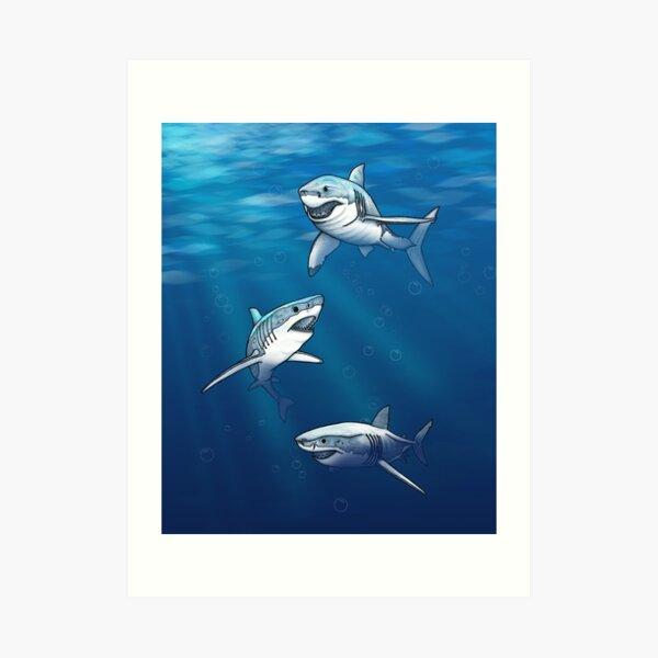 Shiver of Sharks VI Art Print