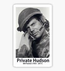 Private Hudson Sticker