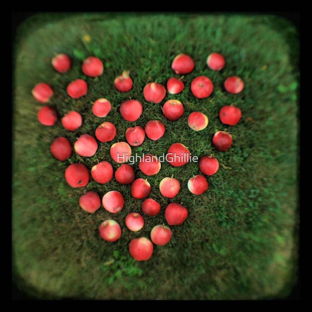 Snow Apple Love - Fine Art Viewfinder Photograph by HighlandGhillie