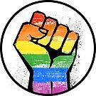 LGBTQ RESIST FIST by queeradise