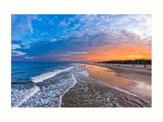 Here For The View - Tybee Island Beach by Mark Tisdale