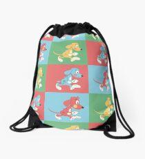 cartoony dogs Drawstring Bag