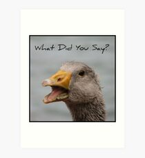 What did you say Art Print