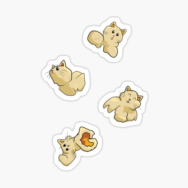 Popcorn Cats Sticker