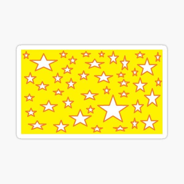 "Art By Miss Katrina L Slomczynski KABFA ""White Stars on Gold Yellow background"" Sticker"