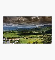 Welsh valley with omnious clouds Photographic Print