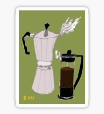 Cafetiere; Green Sticker
