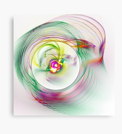 Swirling Twirling Whirling Colours Canvas Print