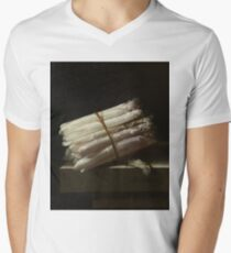 Adriaen Coorte - Still Life With Asparagus, 1697 Men's V-Neck T-Shirt