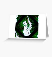 Haunted Mansion Duelist Silhouette 2 Greeting Card