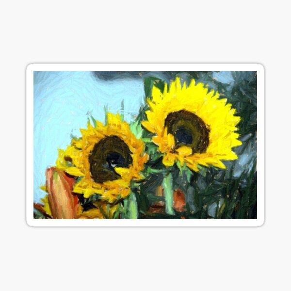 la peinture impressionniste de tournesol Sticker