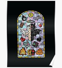 The Binding of Isaac, cathedral glass Poster