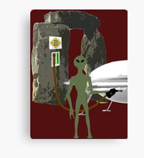 Ancient Aliens - Stonehenge Canvas Print