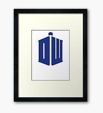 Doctor Who Logo Framed Print