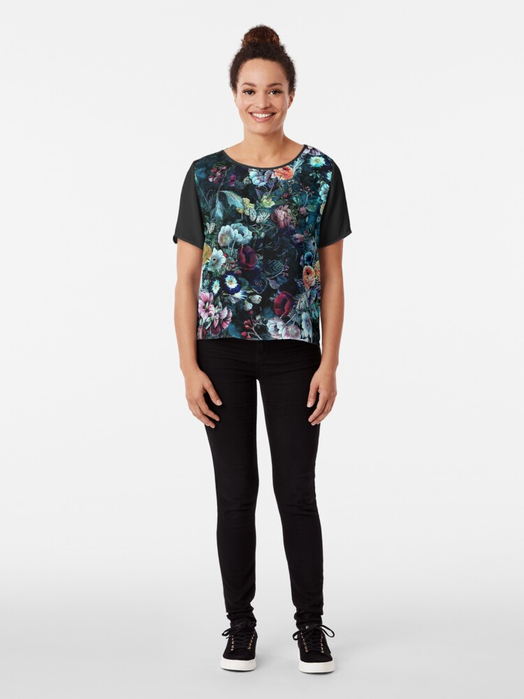Alternate view of Night Garden Chiffon Top