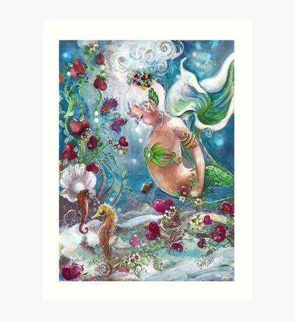 Amazing Sea of Hearts Art Print