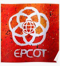 Epcot Logo - Splatter Painting Poster