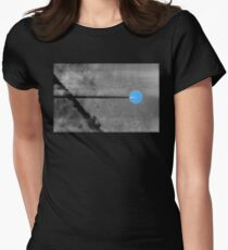 Goodbye Blue Sky Black and White Remix Women's Fitted T-Shirt