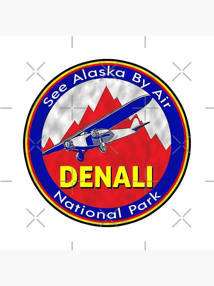 DENALI NATIONAL PARK BY AIR ALASKA VINTAGE AIRPLANE by MyHandmadeSigns