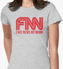 Fake News Network Women's Fitted T-Shirt